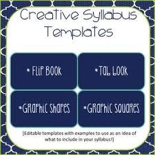 as 25 melhores ideias de syllabus template no pinterest ensino