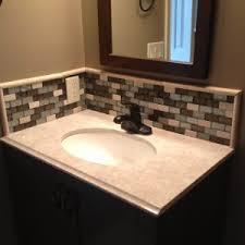 bathroom sink backsplash ideas white and brown mosaic tile bathroom sink backsplash ideas in l from