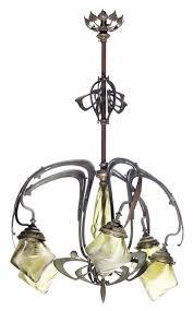 Art Nouveau Lighting Chandelier 1300 Best Art Nouveau Images On Pinterest News Art Deco Art And