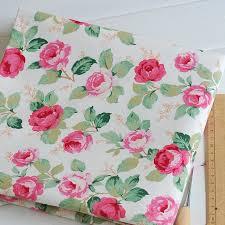 mm187 flowerpot print shabby chic linen fabric wholesale curtain
