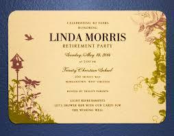 Retirement Invitation Card Trinity Christian Season Of Appreciation