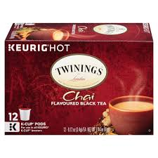 Decaf Pumpkin Spice Latte K Cups by Twinings Chai Tea K Cups 12 Count