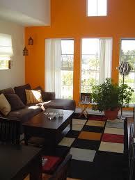 new burnt orange paint color living room design decorating