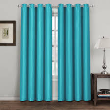 Teal Eyelet Blackout Curtains Faux Silk Eyelet Curtains U2013 E Home Store