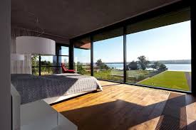 modern brick house modern brick house designed to offer spectacular lake views from