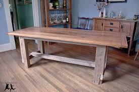 farmhouse dining room table plans reclaimed heart pine farmhouse table diy part 5 how to build round