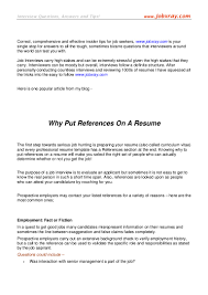Sample Of References For Resume by Where To Put References On A Resume Free Resume Example And