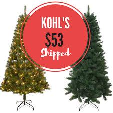 kohls tree deals pre lit 7 tree only 53 shipped