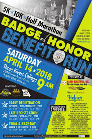 of honor organizer badge of honor benefit run the backstoppers inc