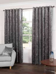 plush crushed velvet lined ready made eyelet ring top curtains by sundour in champagne silk and