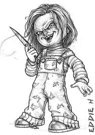 25 unique chucky drawing ideas on pinterest classic scary