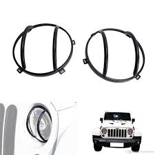 jeep wrangler auto parts 2017 black headlight guards for jeep wrangler jk car parts
