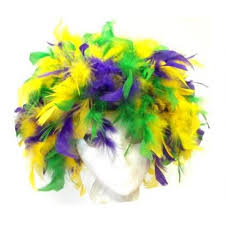 mardi gras feather boas mardi gras feather boa hat poree s embroidery