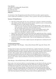 Accounting Manager Resume Resume Objective Sales Examples Of Resignation Letters For