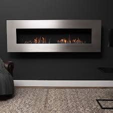 top3 by design icon fires nero 1750 stainless steel wall fireplace