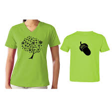 we match tree acorn black matching shirts for family set