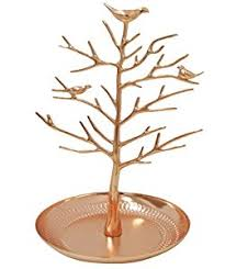 dn new gold birds tree jewelry stand display