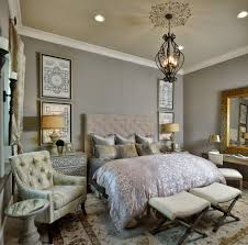 Romantic French Bedroom Decorating Ideas Luxurious Bedding With Neutral Color Palette Bedroom Transitional