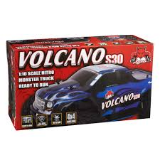 rc nitro monster trucks redcat racing 1 10 volcano s30 truck nitro rtr red towerhobbies com
