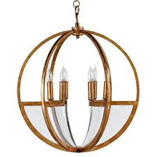 Orb Light Fixture by Carlisle Modern Classic Gold Leaf Lucite Orb Chandelier Kathy