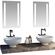 Lighted Mirror Bathroom Mesmerizing Led Lighted Mirrors Bathrooms Modern Bathroom