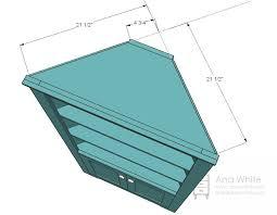 Corner Bookcase Plans Free White Corner Cupboard Diy Projects