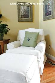 White Chair With Ottoman Slipcovers For Chairs And Ottomans Apartments Stunning Living Room