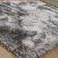 Grey Shaggy Rugs Grey Plush Rug Rugs Decoration