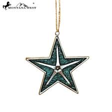 new montana west texas star cross ornaments turquoise christmas