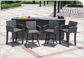 Outdoor Bar Table Set Captivating Outdoor Patio Bar Table With Modway Furniture Maine