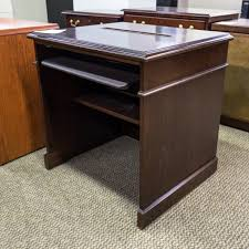 computer and printer desk used traditional computer printer table walnut mis1534 004