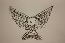 clockwork angel wing sketch by fickleiris on deviantart