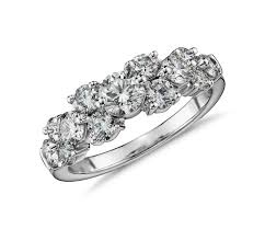 Garland by Tapered Garland Diamond Ring In 18k White Gold 1 5 Ct Tw