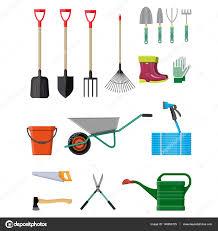 gardening tools set equipment for garden u2014 stock vector abscent