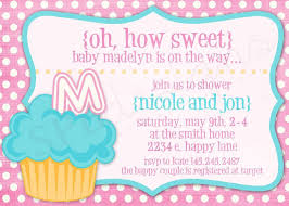 cupcake baby shower invitation how sweet it is