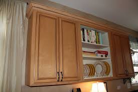 exciting brown color wooden crown molding for cabinets features