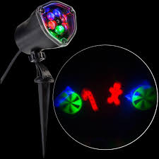 Christmas Outdoor Motion And Light Projector by Lightshow Led Projection Whirl A Motion Candy Cane Mix Rrgb Stake