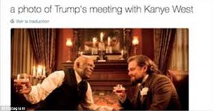 Django Meme - memes mock donald trump s meeting with kanye west daily mail online