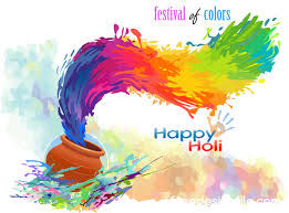 color of happy happy holi festival with color background vector 09 vector