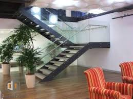 Villa Stairs Design Glass Railing Wood Tread Curved Stairs For Villa Suppliers And