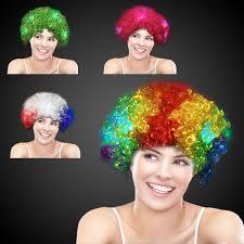 light up afro wig green light up led spirit costume wig goimprints