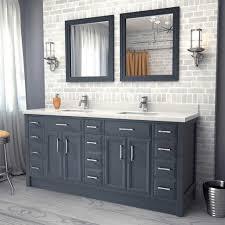 18 Inch Wide Bathroom Vanity Bathroom Vanities Direct Solid Wood Double Vanity Home Depot