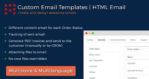 opencart order status email templates pdf invoice html email