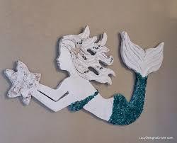 mermaid wall decor shenra com 15 beautiful wooden mermaid wall hanging for charming decorations