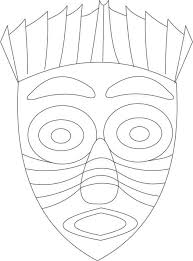 african mask coloring page printable coloring page cartoon
