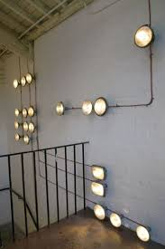 Stairway Wall Ideas by Home Interior Cool Stairway Lighting Idea With Bulb Wall Lamp