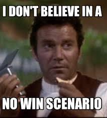 Kirk Meme - meme maker i dont believe in a no win scenario