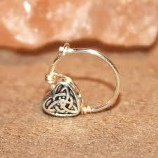 heart cartilage earring buy celtic heart cartilage earrings heart charm nose ring ear