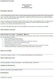 Best Hobbies And Interests For Resume by Paralegal Cv Example Icover Org Uk