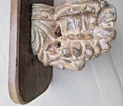 architectural carved wood door l bird corbel reclaimed wall